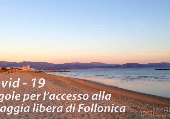Accesso Spiaggia Libera Follonica Estate 2020