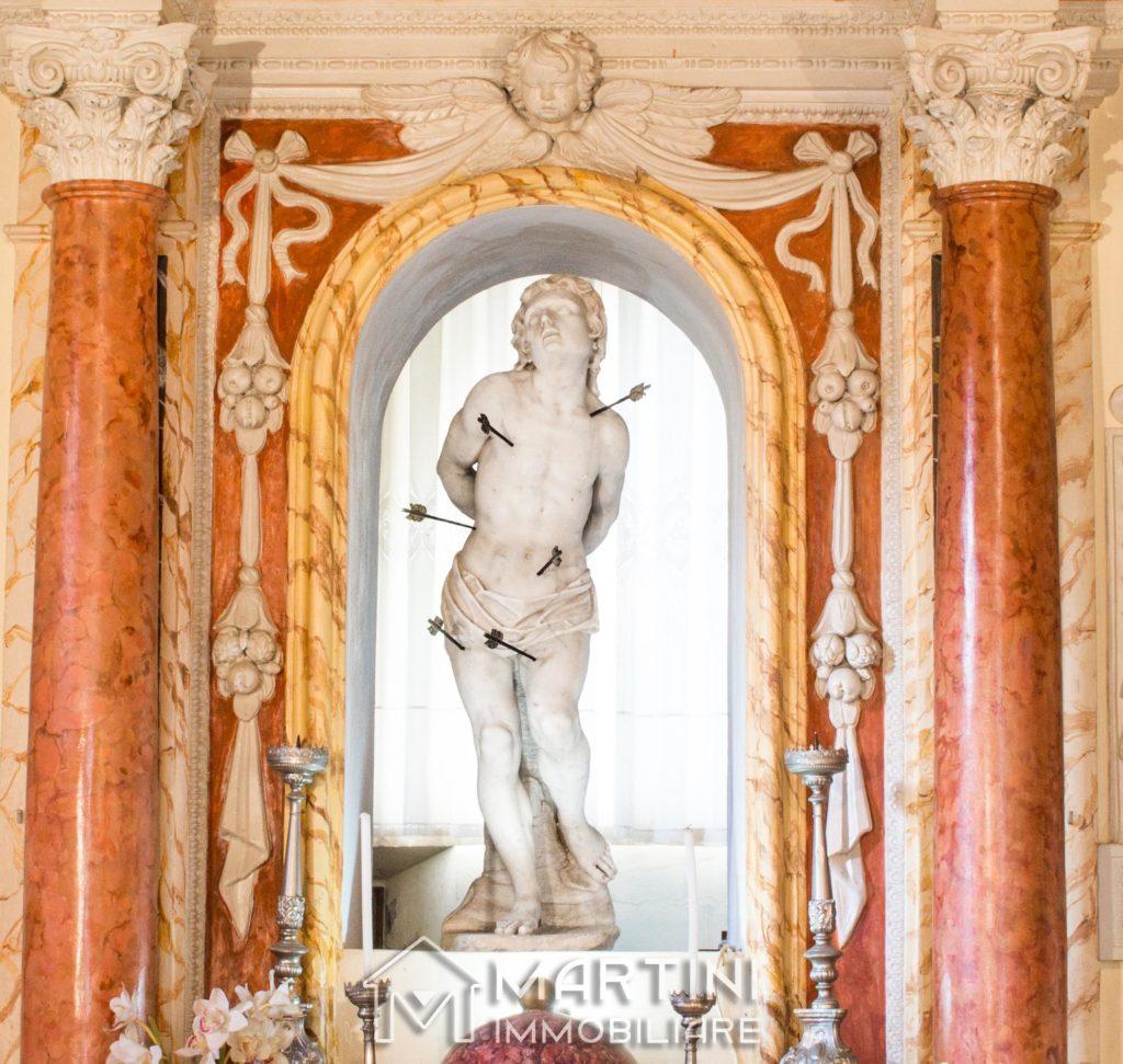 Statua San Sebastiano a Boccheggiano